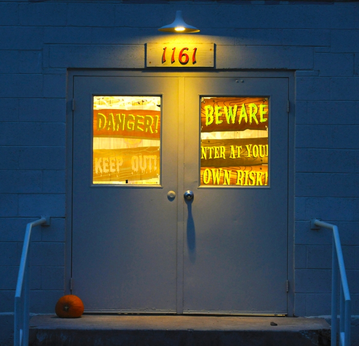 Photo by Bill SchaeferThe entrance to the Haunted Science Lab.
