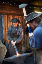 Impressions from the the Christmas-Market in Erbach: Blacksmith