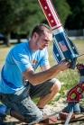 Josh Wilson helps out at Umatilla Elementary School rocket launch, photo by Roberto Gonzalez