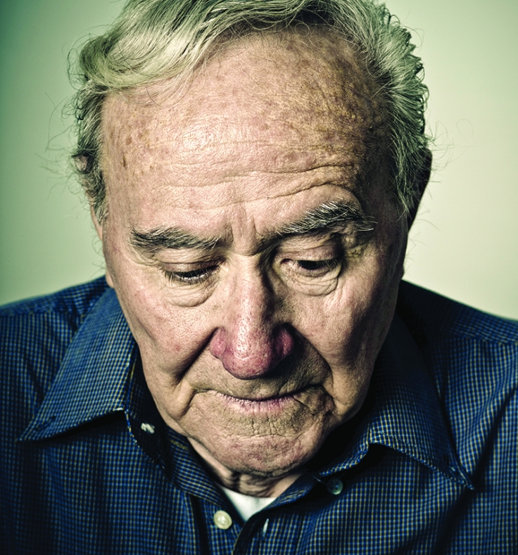 sad old senior man