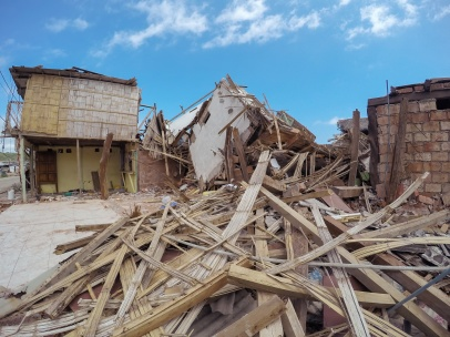 Earthquake Destroyed Buildings, Ecuador, South America