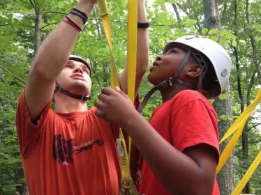 boys zipline
