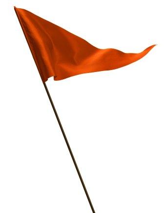 Waving Red Golf Flag