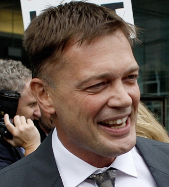 Dr Andrew Wakefield leaves the General Medical Council in London